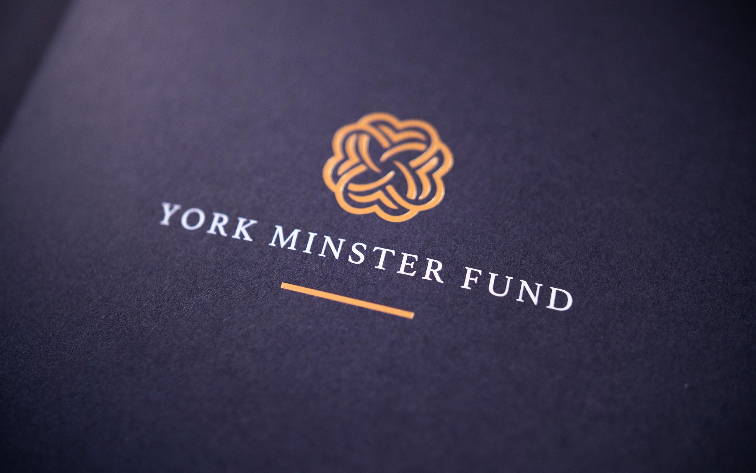 York Minster Fund Foiled Logo White Ink