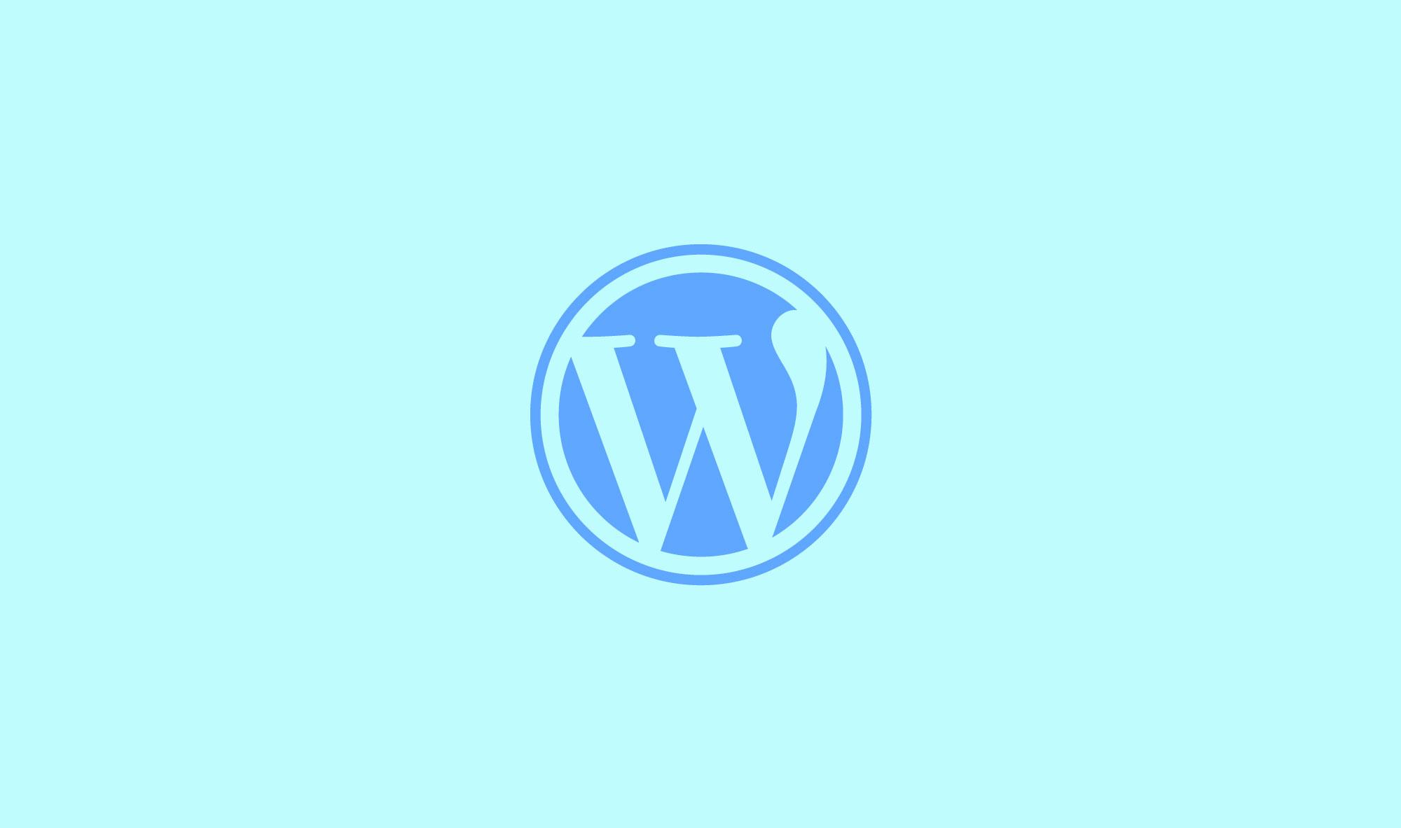 WordPress Logo Pastel