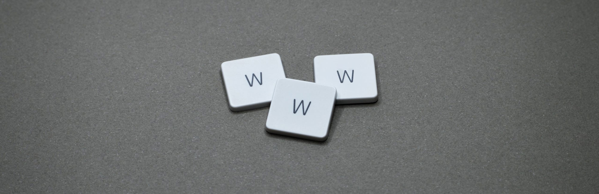 Three WWW keyboard keys